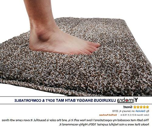 Yimobra Lively Mats Absorbent,Large 31.5 X W Inch ,Soft,Non slip,Microfiber with