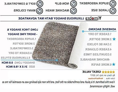 Yimobra Lively Color Bath Mats XL 31.5 X W 19.8 Inch ,Soft,Non with Pink