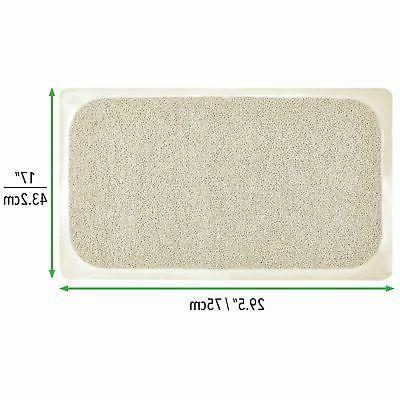 mDesign Suction Bath Mat for Stall,