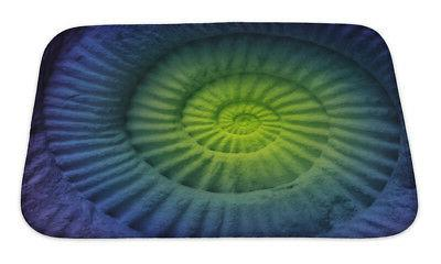 marine abstract colors of ammonite prehistoric fossil