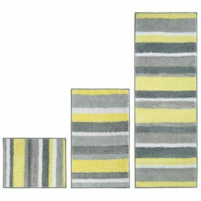 mdesign striped microfiber non slip