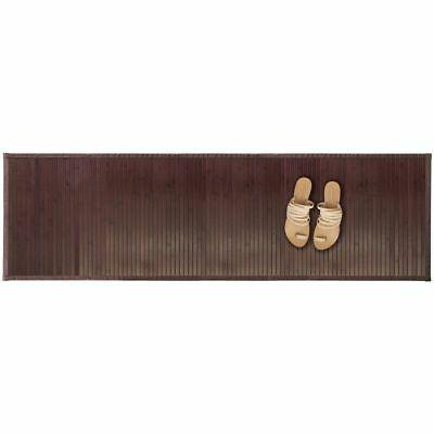 mDesign Water-Resistant Mat Bathroom Extra Large, Brown
