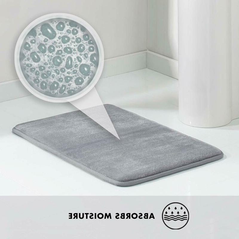 "17""X24"" Bath Mat Non Slip Absorbent Washable"