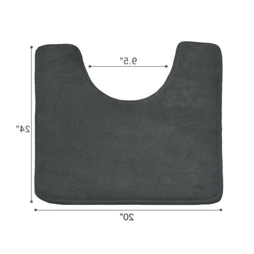Memory Foam Bathroom Absorbent Mat Set Small Large and Contour