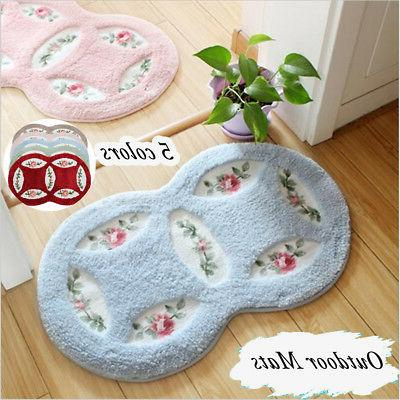 Mesh Coral Mats Bathroom Home Area Rugs Kitchen Rug 45*75cm