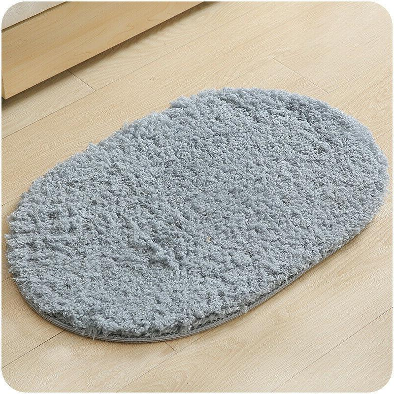 4 Colors Home Water-absorbing Memory Rug Oval