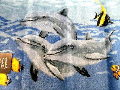 nautical bath mat rug dolphin sea tropical
