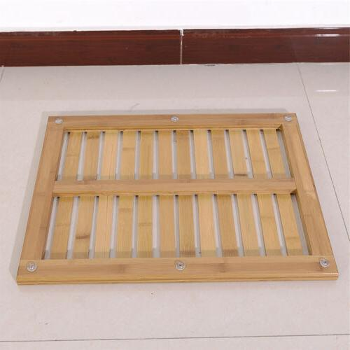 New Bathroom Rectangular Bamboo Wooden Floor Anti Slip Bath SPA US