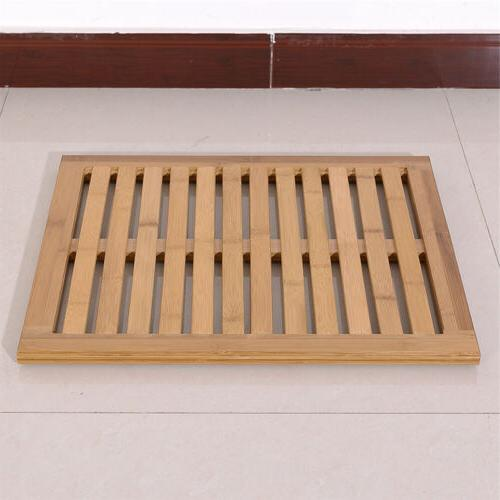 New Rectangular Wooden Floor Slip Bath US