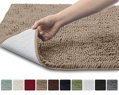 Gorilla Original Chenille Bathroom , and Absorbent Shaggy Wash/Dry, Perfect Plush Carpet Mats Tub, Shower, and Room