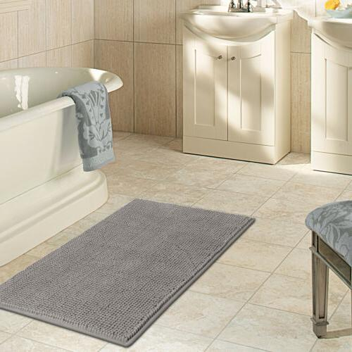 "Lifewit Non Mat 32"" x Bathroom Soft Rugs Gray"