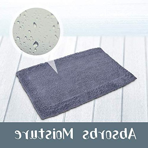 Super Absorbent Soft - Reversible Non-Skid Door Bath with Non-Slip Rug Pad