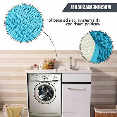 Soft Shaggy Slip Absorbent Bath Bathroom Shower Carpet