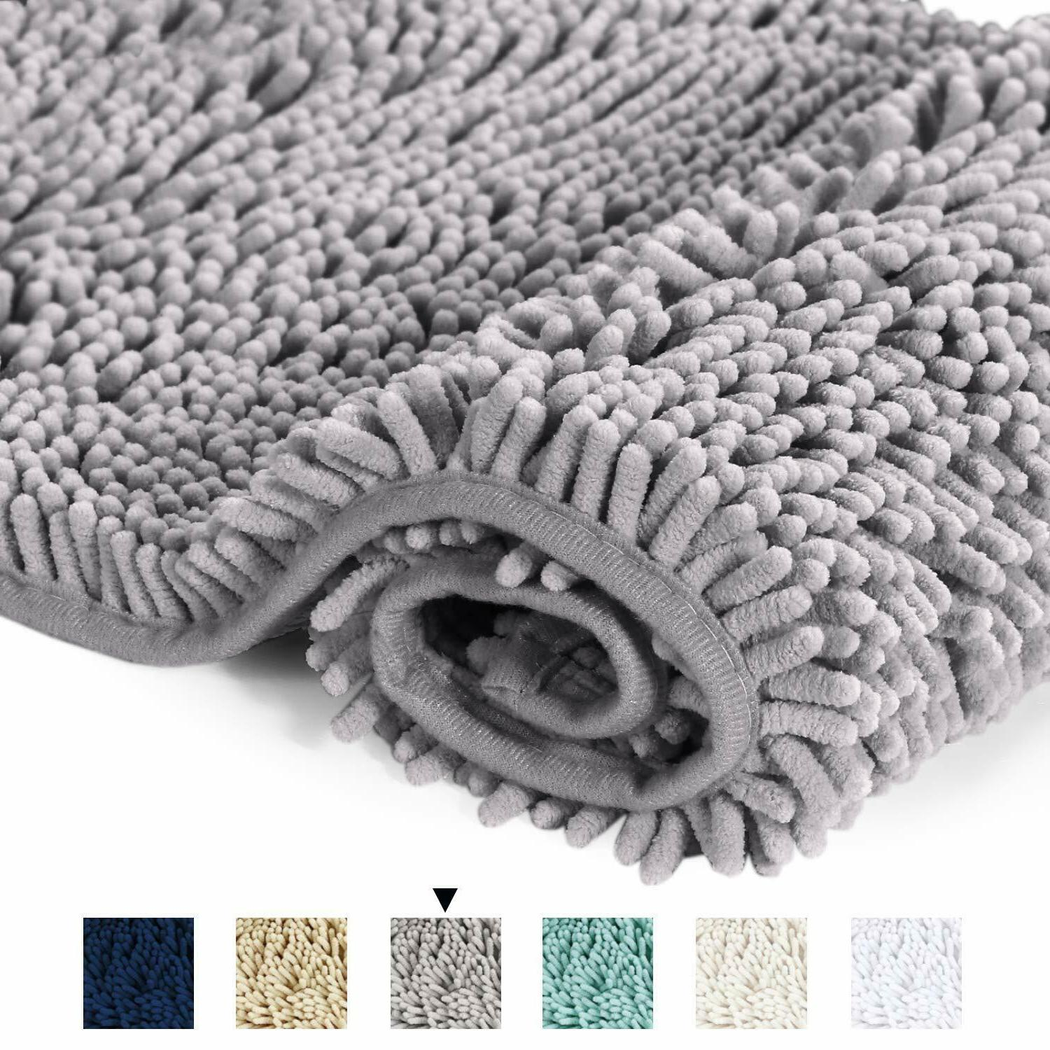 Bathroom Rug Mat Washable Soft Microfiber