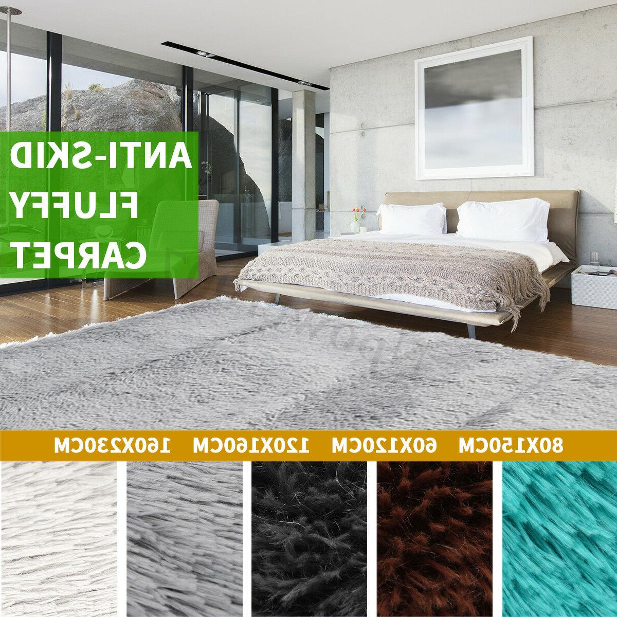 Non-Slip Shaggy Area Fluffy Rug Soft Bathroom Carpet Bath Ma