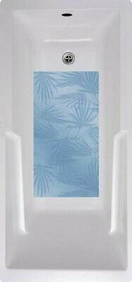 palm frond bath tub and shower mat