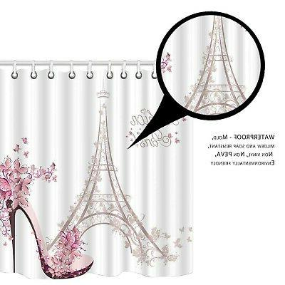 Amagical Paris Decor 16 Piece Mat Rug Shower Curtai...