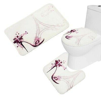 Amagical Decor Bathroom Mat Set Curtai...