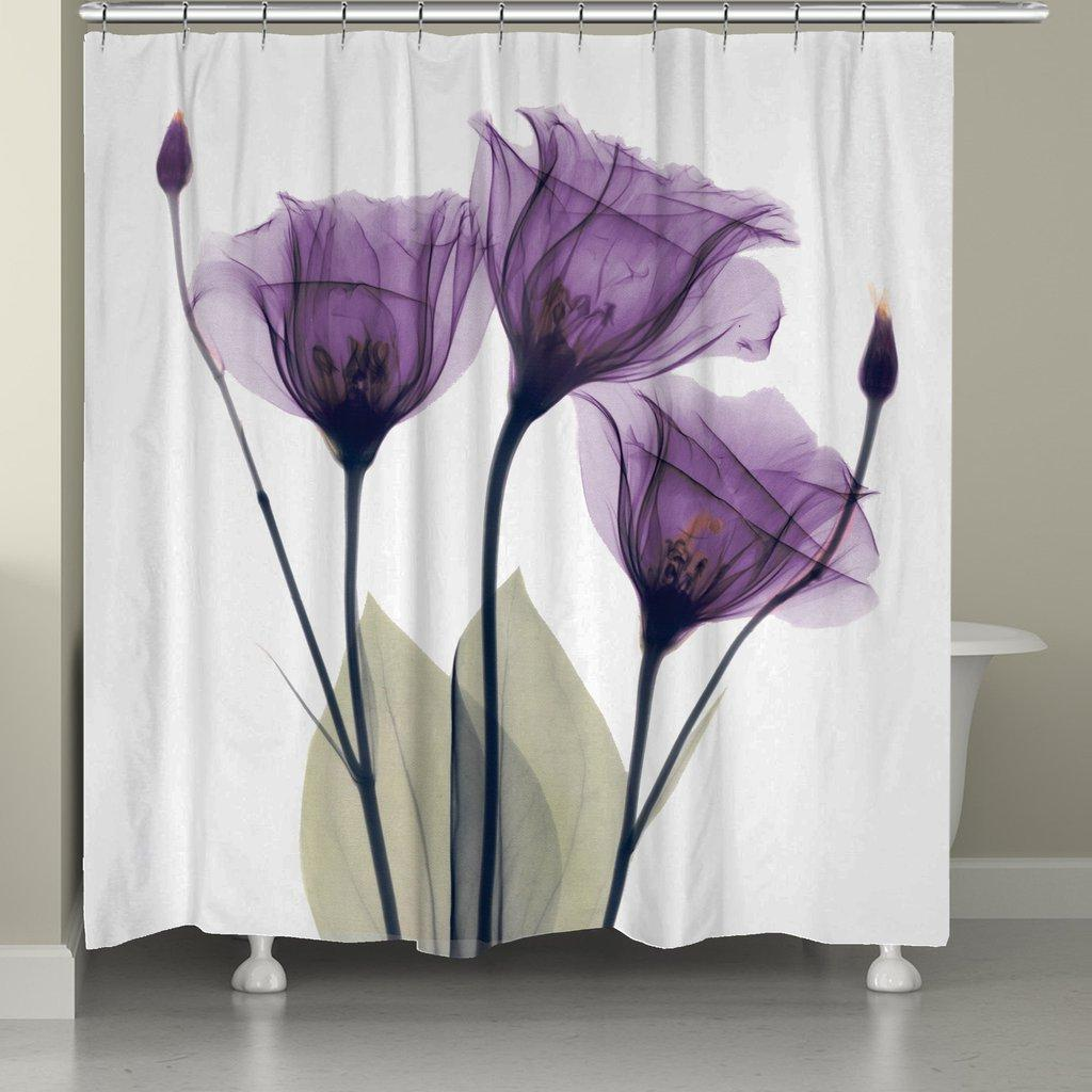 purple lotus decor bath mat