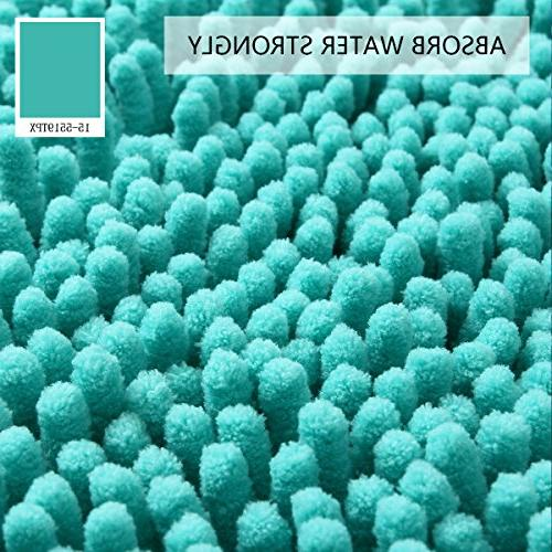Round Shaggy Mats Living Room Chenille Soft Area Rug Turquoise
