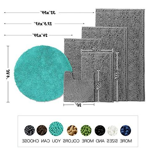 Round Shaggy Mats for Living Chenille Microfiber Bedroom Area Turquoise