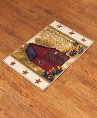 rustic country primitive outhouse bathroom rug bath