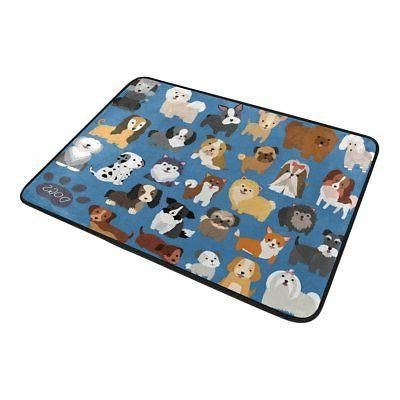 ALAZA Set Cute Animal X Curtain and Mat Lovely