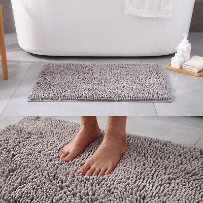 Shaggy Microfiber Rug Shower Bath Non-Slip