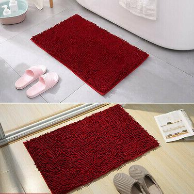Shaggy Microfiber Rug Shower Non-Slip Colours