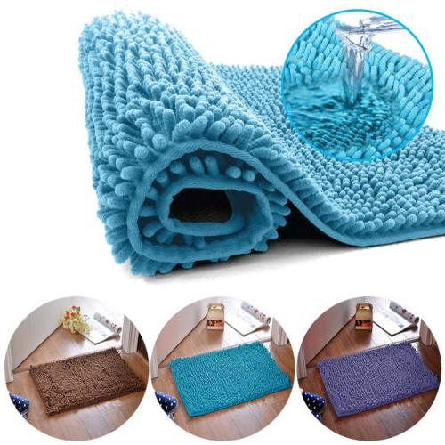 Shaggy Non Slip Absorbent Bath Floor Mat Bathroom Shower Rug