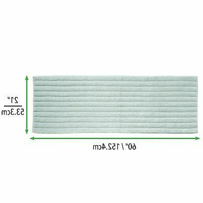 "mDesign Soft 100% Ribbed, 60"" - Water"