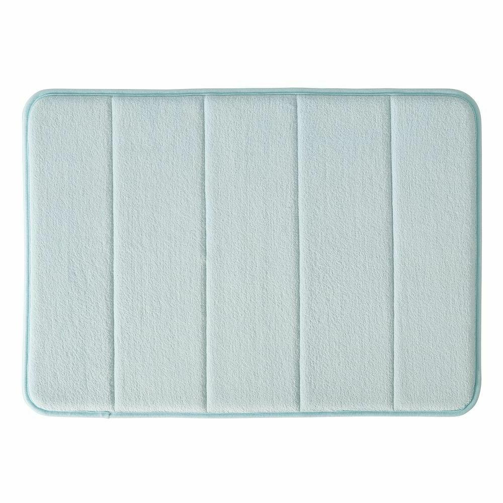 soft memory foam non slip water blue