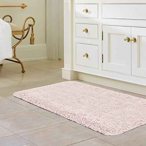 """NORCHO Mat Rug Mat Absorbent Antibacterial with Slip Rubber Back 31""""x19"""", Pink"""