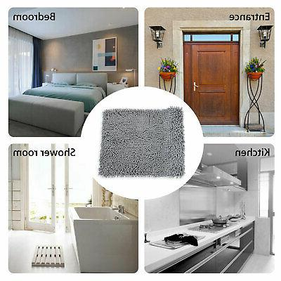 Soft Slip Absorbent Bath Mat Bathroom Shower Rugs Carpet