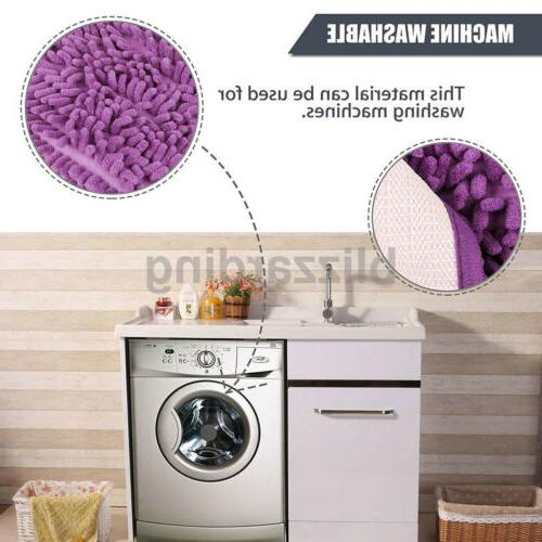 Bathroom Shower Carpet Soft Microfiber Slip Absorbent