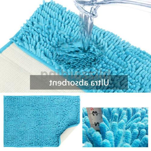 Bathroom Shower Soft Microfiber Shaggy Non Slip