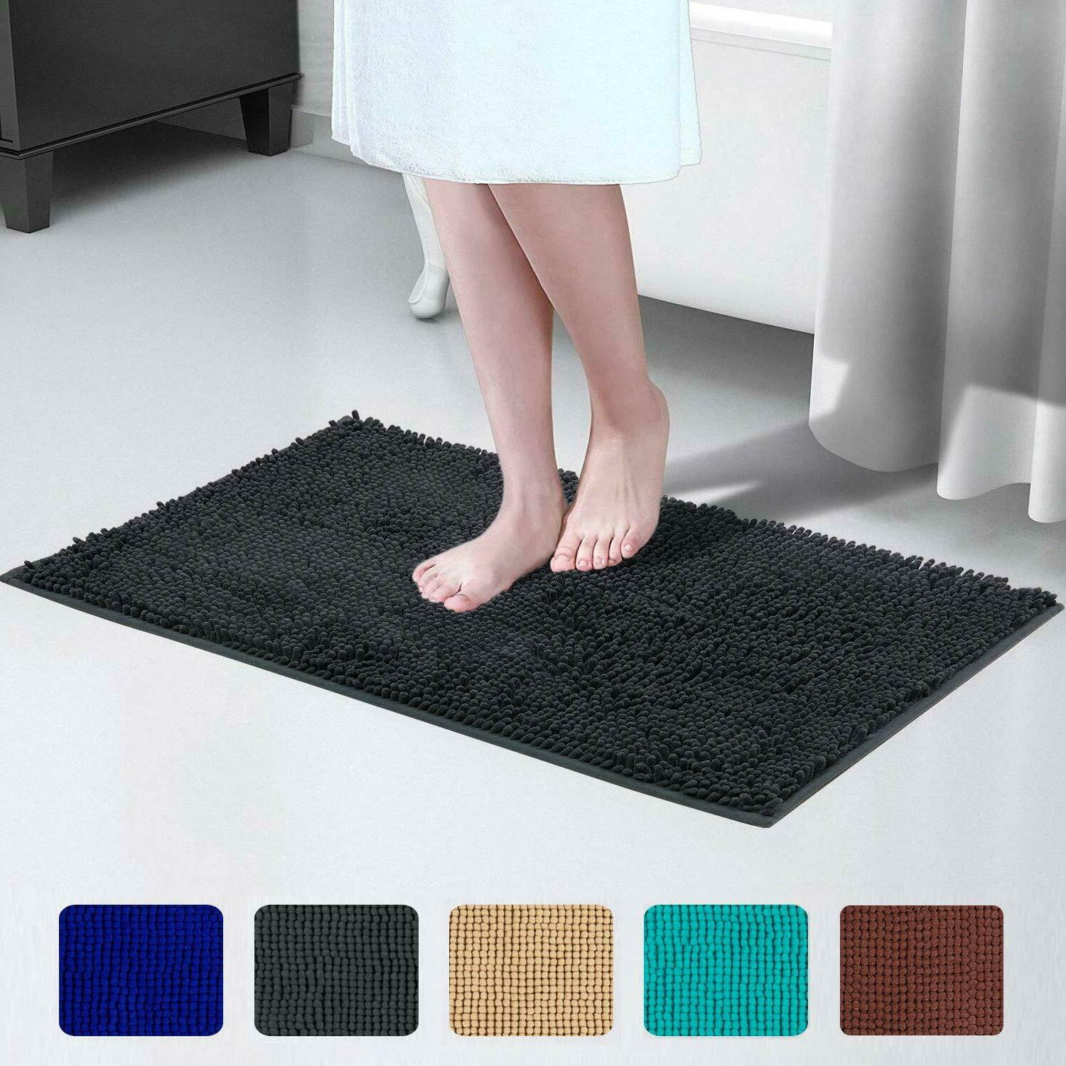 Soft Shaggy Slip Bath Bathroom Rugs