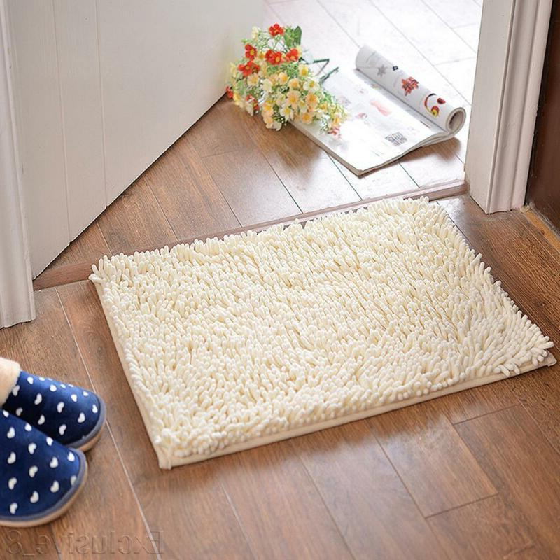 Soft Microfibre Shaggy Slip Absorbent Bathroom Rugs