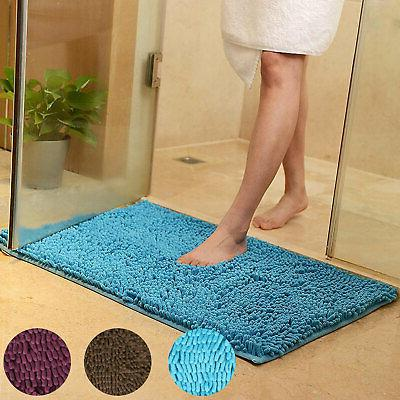 Soft Shaggy Slip Absorbent Bath Bathroom