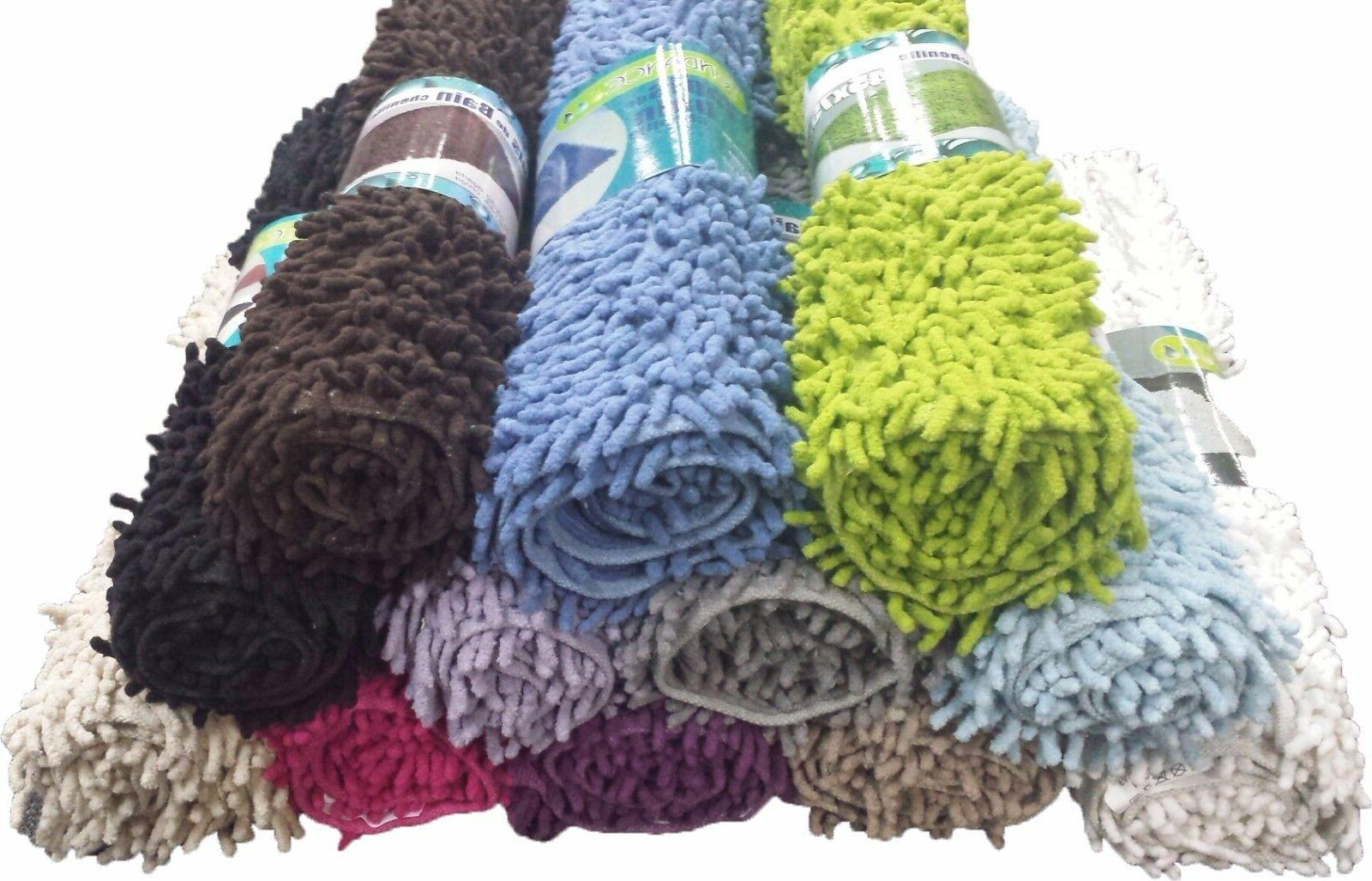 "Evideco Soft Shaggy Loop Bath Mat Bath Rugs Carpet 29.5""Lx17"