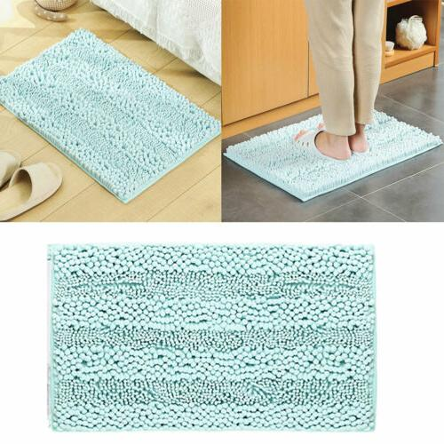 1PC Bath Mat Anti-Slip Bath Rug Soft Absorbent Chenille Bath