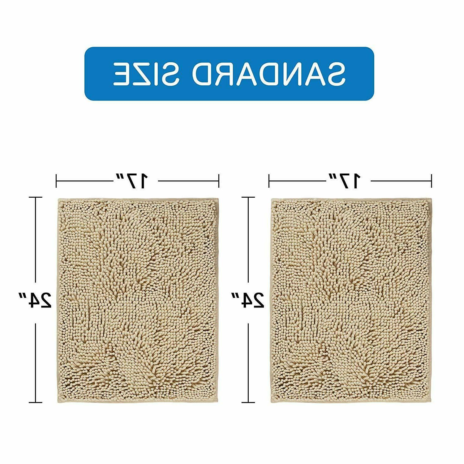 Taupe Rugs Oversize Rug Super Soft Bath Mat 2 Pack