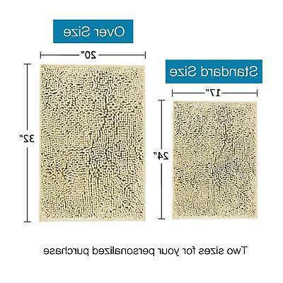 Soft Non Slip Absorbent Bath Rugs,Memory Foam Mats by DocBea