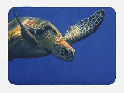 turtle bath mat bathroom decor plush non