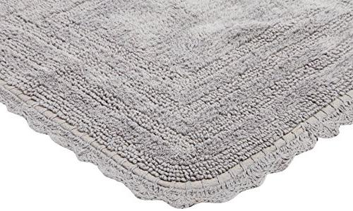 """DII Ultra Soft Cotton Crochet Bath Mat Rug in Front of Vanity, Tub, and Toilet, 24"""" -"""