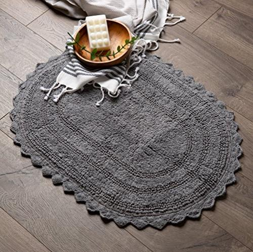 """DII Soft Cotton Mat Place in Front Vanity, Bath and 24"""" Gray"""
