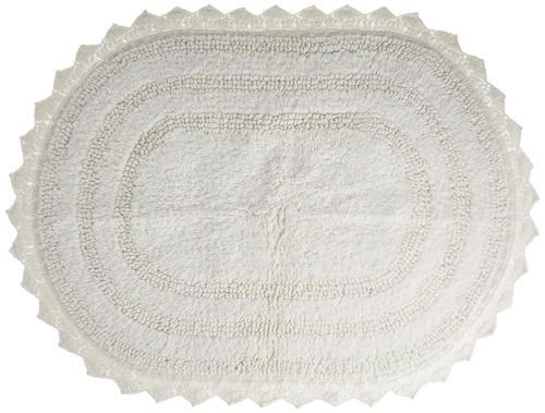 DII Ultra Soft Spa Cotton Crochet Oval Bath Mat or Rug Place