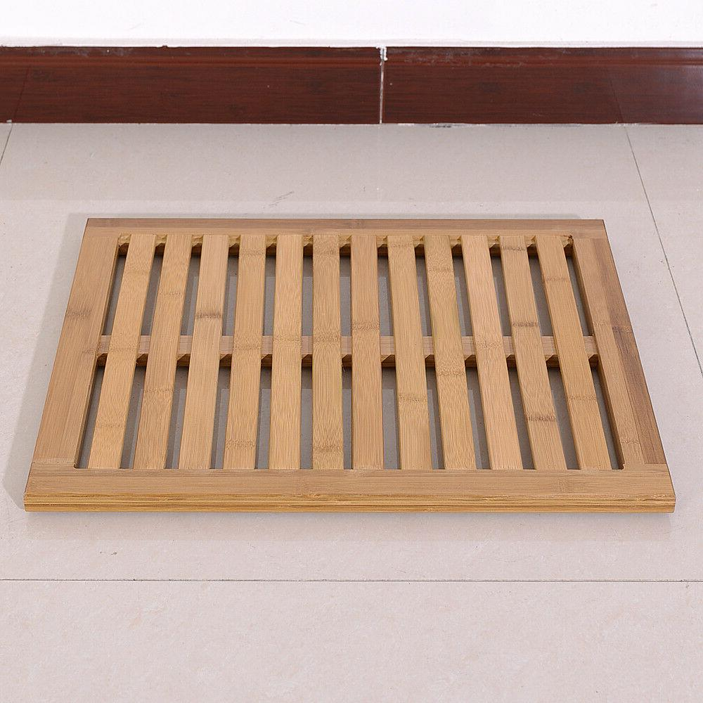 US Mat Bamboo Floor Wood Color Non-Slip
