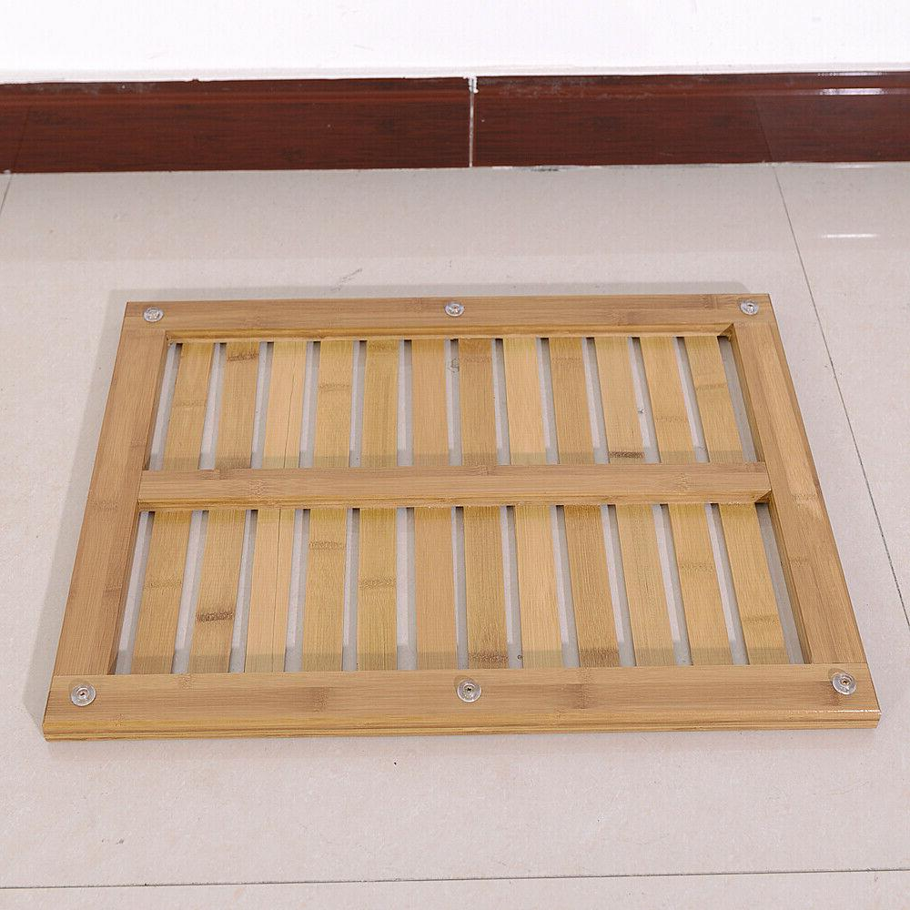 Bamboo Floor Bath Wood Pad Shower Spa Slip Home Decor