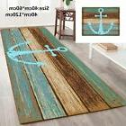 vintage retro nautical anchor bathroom rug nonslip